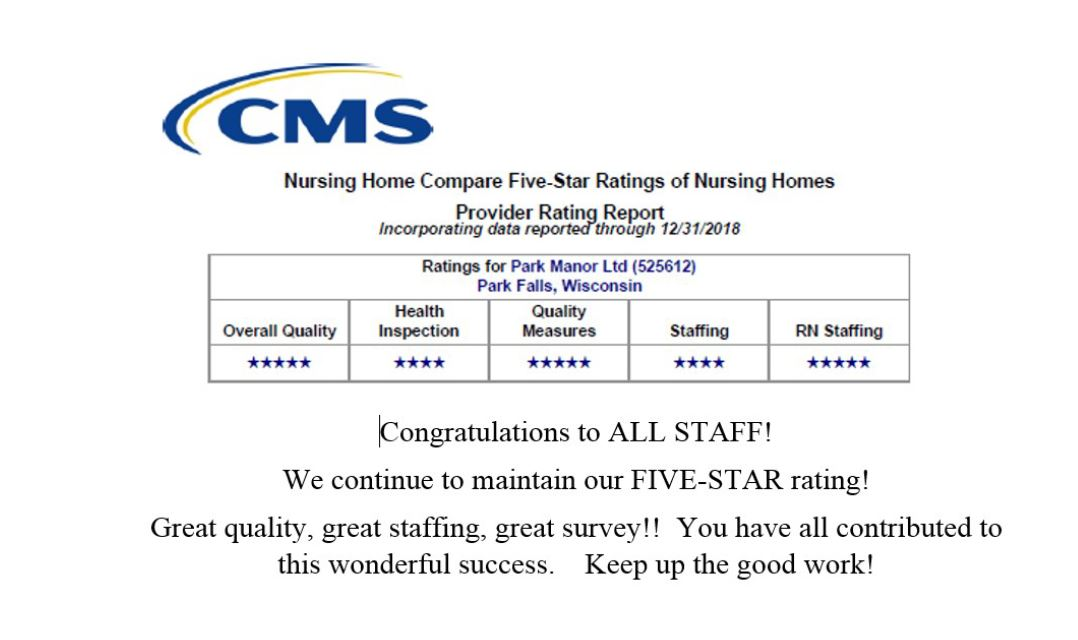 Park Manor Rated 5-Star !!